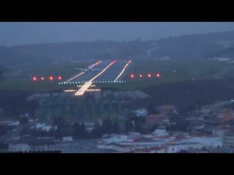 Aterrizaje Aeropuerto de Alvedro (LECO) -A Coruña- ciclogénesis explosiva dic 2013