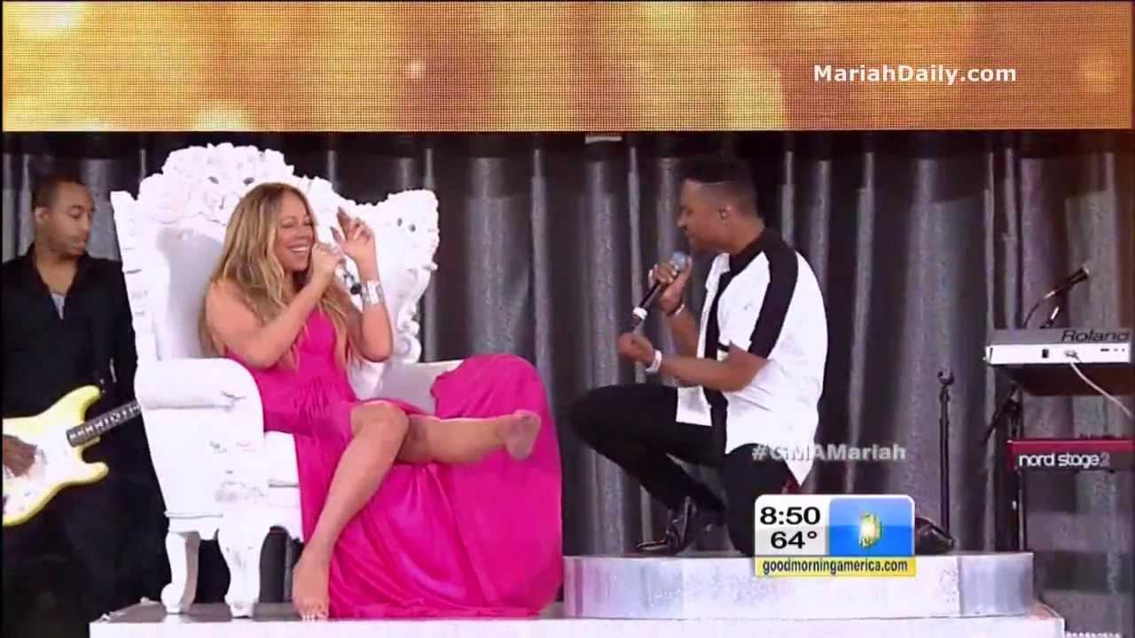 Good Morning America Watch Live : Mariah carey and miguel beautiful live on good morning