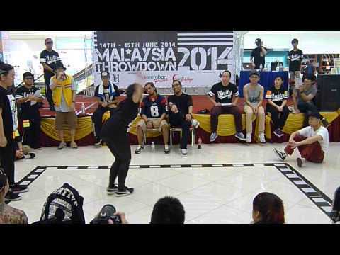 Malaysia Throwdown 2014 - Hip Hop Top 16 - Angel Wong vs Wendy Leong