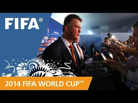 Netherland's Louis VAN GAAL Final Draw reaction