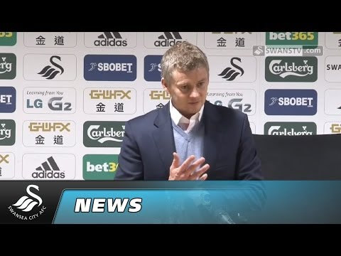 Swansea City Video: Ole Gunnar Solskjaer post match