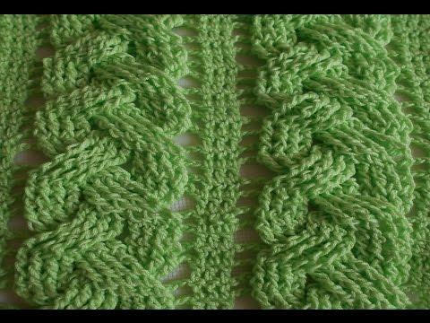 Trenza en crochet primaveral de tres - ideal para blusas, sueter, chalecos, mantas, gorros,