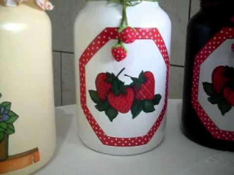 Potes de Vidro decorados - Rose Adams