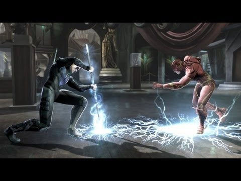 Injustice Gods Among Us Nightwing & Cyborg Revealed New Gameplay