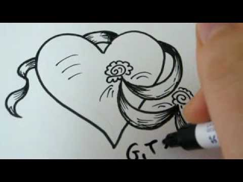 Easy Drawings Of Hearts With Roses