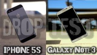 Galaxy Note 3 ve iPhone 5s düşme testi