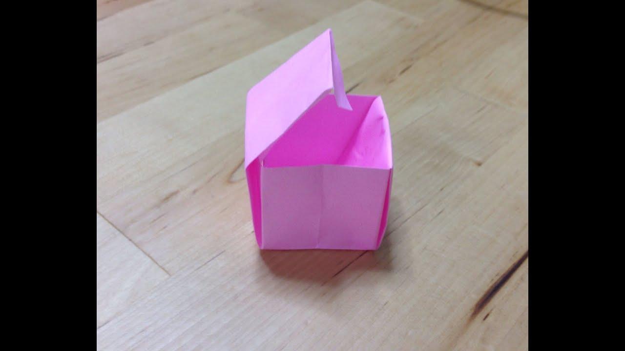 折り紙 蓋付き箱 折り方 作り方 ...