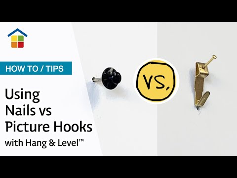 Using nails vs hooks with the hang level picture How to hang a heavy picture frame without nails