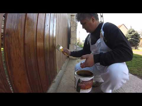 Kerítés festése Boróka Satinnal