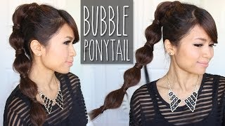 Bubble Ponytail Hairstyle Medium To Long Hair Tutorial