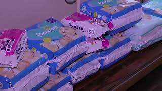 Волонтери Сумської філії ХНУВС передали малечі, яка позбавлена батьківського піклування, підгузки
