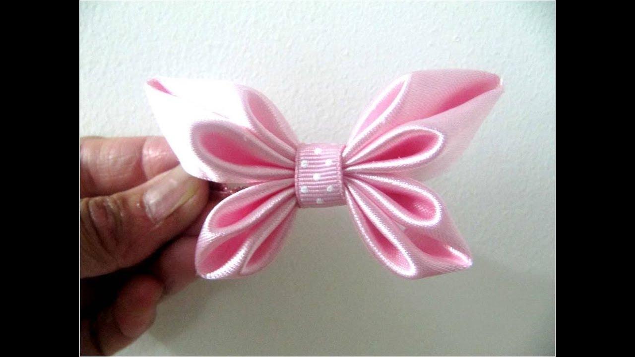 Mo os para el cabello en cintas dise o mariposa youtube for Disenos de pelo