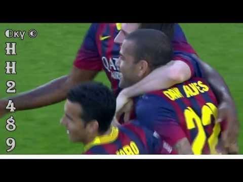 LEO MESSI HATTRICK ~ Barcelona vs Osasuna 7 0 ~ Barcelona 7:0 Osasuna ~ Liga BBVA ~ 16-03-2014