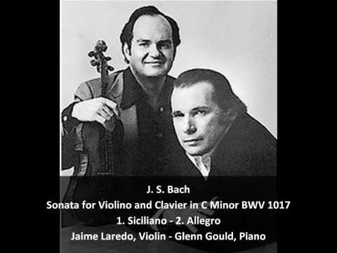 J. S. Bach - Sonata for Violin and Clavier in C Minor  BWV 1017 (1/2)