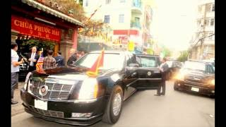 Tổng Thống Mỹ Barack Obama đến thăm Chùa Phước Hải (Chùa Ngọc Hoàng ) . Quận 1 - Bản Full