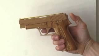 Rubber Band Gun SIG Sauer Blowback