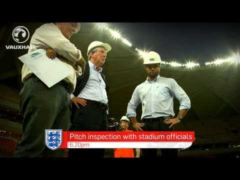 Roy Hodgson tours Manaus, England's first World Cup host city in Brazil