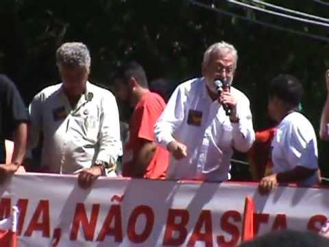 Bancários de Santos participam de ato de solidariedade aos desalojados do Pinheirinho