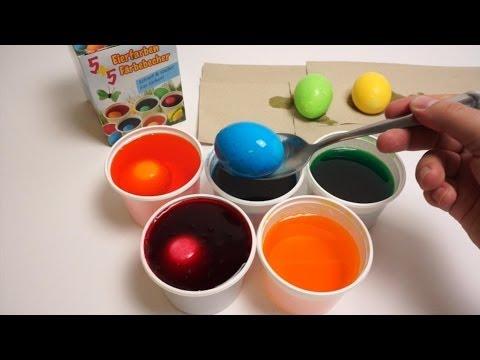 DIY Đồ chơi trẻ em, Bộ nhuộm màu trứng Phục Sinh 2014