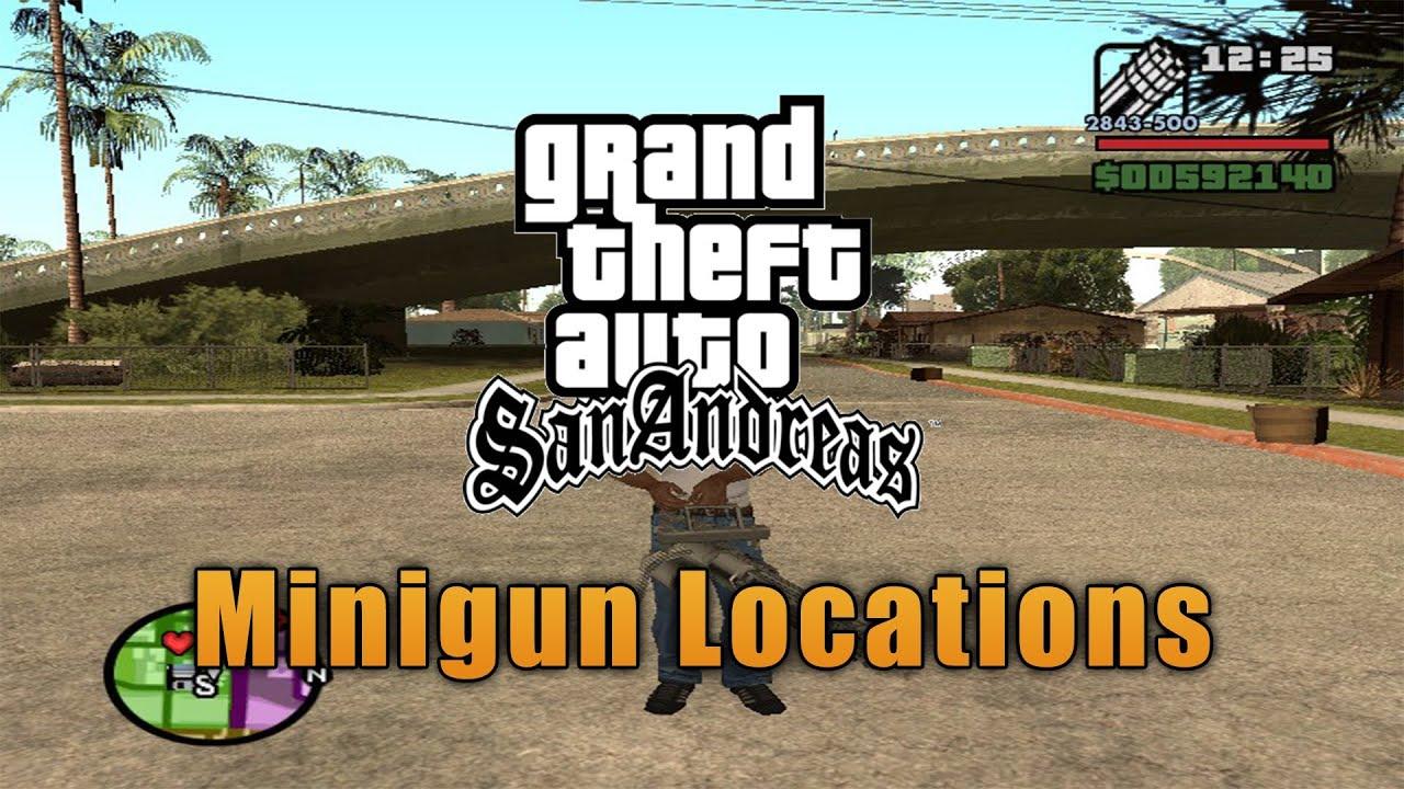 gta minigun location