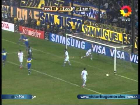 Boca 2 Universidad de Chile 0 (Relato Victor Hugo) Copa Libertadores 2012 Los goles (14/6/2012)