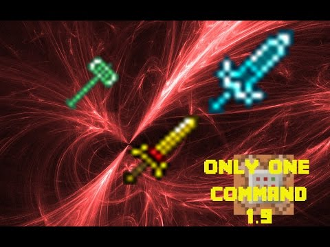 [1.9 & 1.10] Minecraft - More Swords & Notch Apple Recipe in One Command! (Two for this one!)