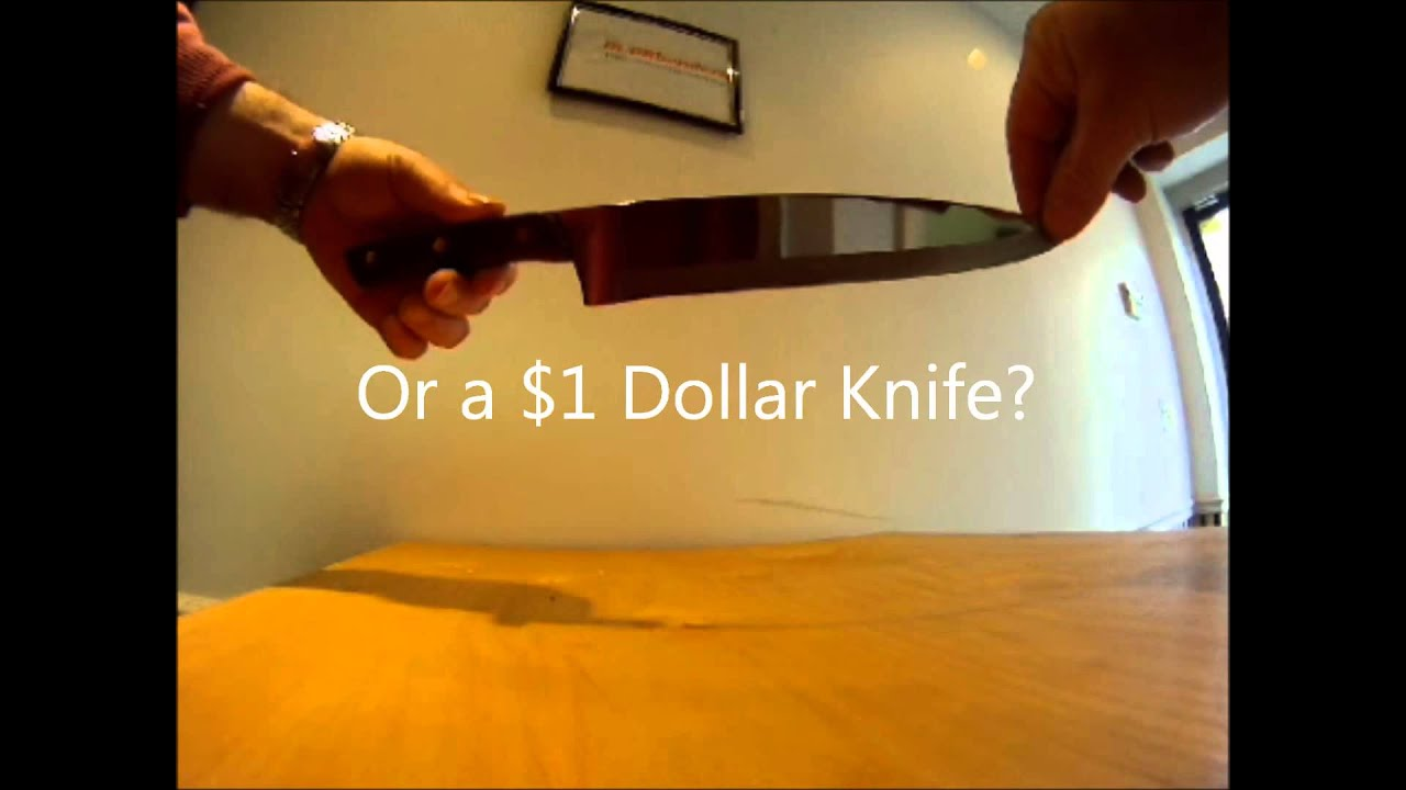the sharpest knife in the world youtube