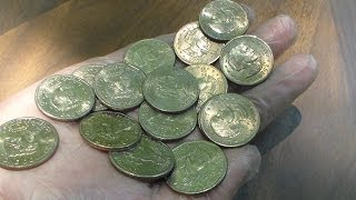 Coin Roll Hunting $500 In Dollar Coins
