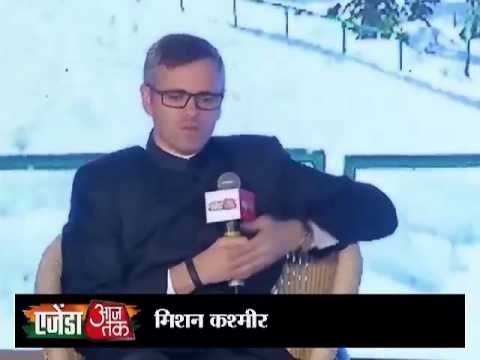 Agenda Aaj Tak 2013:Omar Abdullah says Narendra Modi have re-established BJP in India