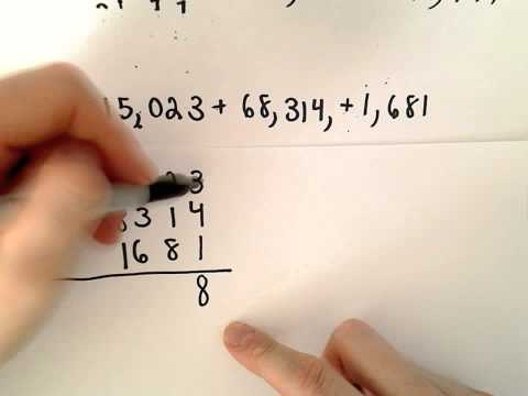 Adding Whole Numbers Example 3