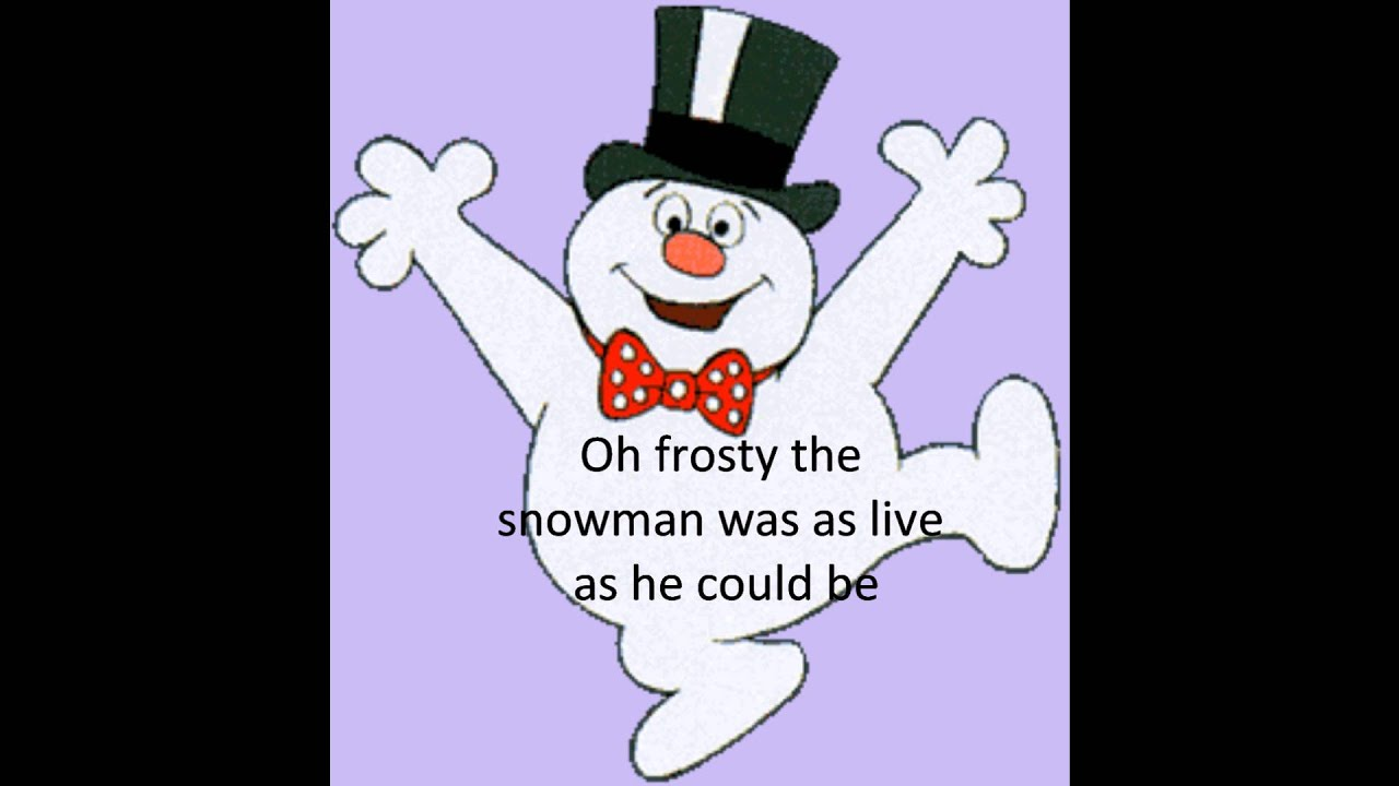 Bing Crosby- Frosty the Snowman + lyrics - YouTube