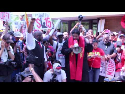 McDonald's Workers & Supporters Arrested in Protest