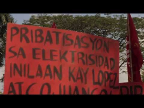 People of Southern Tagalog Protest Rally Vs. Power Rate Hike