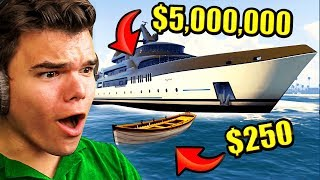 CHEAPEST vs. Most EXPENSIVE Boat In GTA 5!