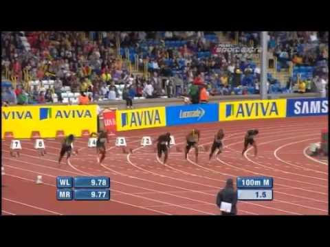Asafa Powell 100m - 9.91 Diamond League Birmingham 2011