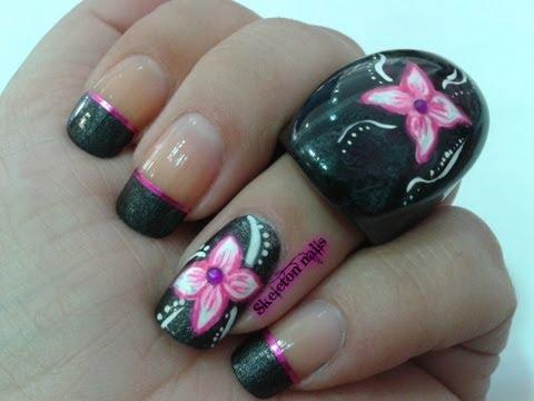 Manicura flower power facil/ Easy flower power manicure