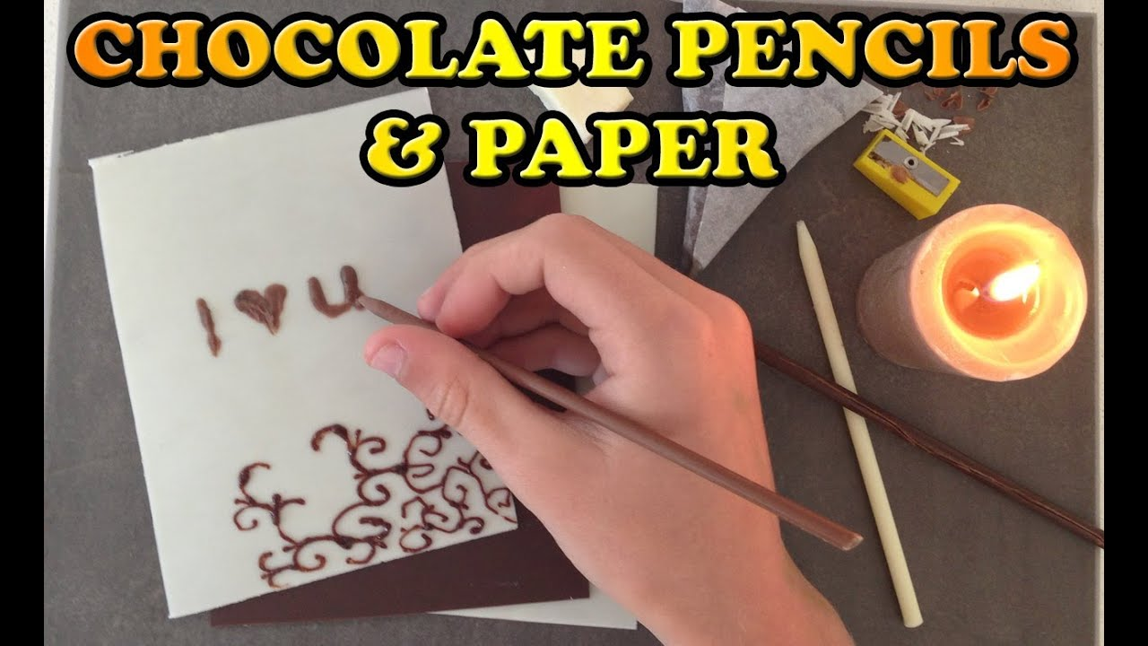 Love Chocolate Paper and Pencils Easy Dessert HOW TO COOK ...