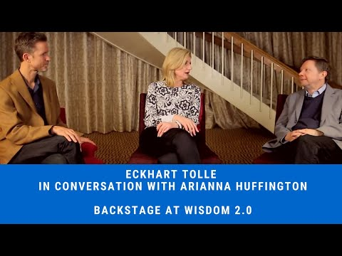 Wisdom 2.0 Backstage - Soren Gordhammer with Arianna Huffington and Eckhart Tolle