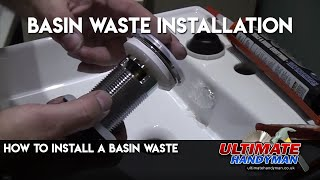 How to install a basin waste