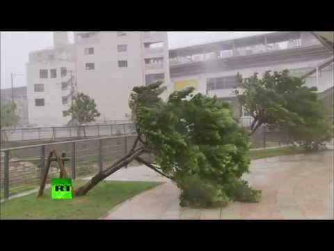 Japan Typhoon Neoguri video: 'Worst storm in 15 yrs' making landfall
