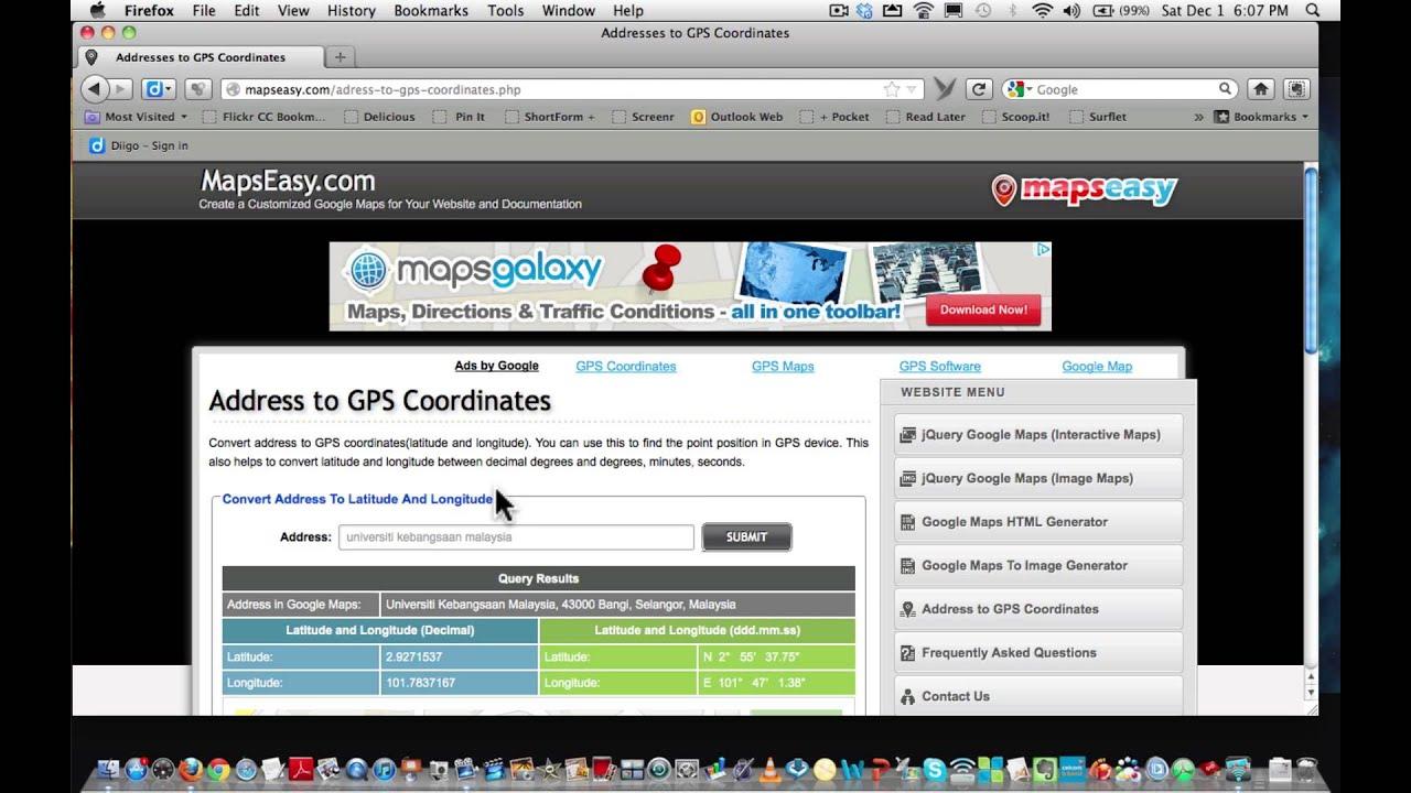 Gps Coordinates To Decimal Degrees Converter