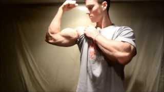Teen Muscle Zach Zeiler Apple Crush And Bicep Flex