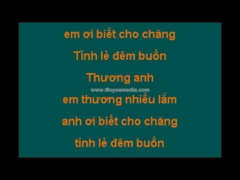 Karaoke lk dem buon tinh le nhung doi hoa sim dan nguyen bang tam