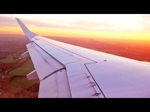 Amazing Beautiful Sunset Landing at London Gatwick Airport Flybe Embraer E195 G-FBEM [1080p HD]