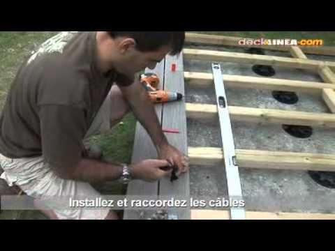 Installation d 39 un spot de terrasse youtube - Spot encastrable terrasse bois ...
