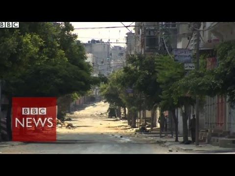 Trying to survive on deserted streets of Gaza