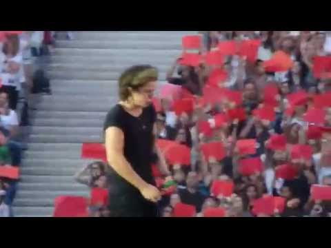 One Direction - Don't Forget Where You Belong (FRENCH FLAG PROJECT) @ Stade de France PARIS 21/06/14