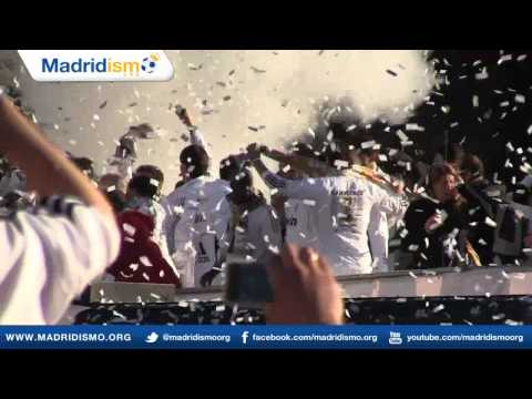 Real Madrid and fans celebrate the Liga Championship at the Cibeles, Campeones Liga 2012