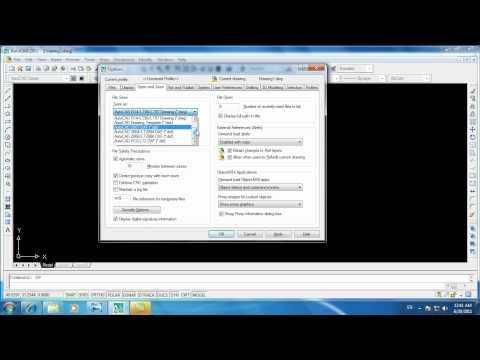 Hiệu chỉnh giao diện Autocad 2007