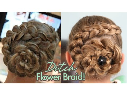 Dutch Flower Braid | Updo Hairstyles, For more fun and easy hairstyle ideas, please visit... http://www.cutegirlshairstyles.com Be sure to join our Facebook Fan Page at: http://www.facebook.com/C...